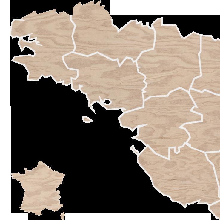 La carte des producteurs et fournisseurs de La Grande Barge - Bar, restaurant et épicerie bio, locale et en coopérative sur L'Île de Nantes